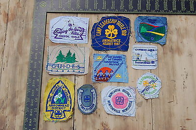 Lot of 10 Girl Guides Canada RARE Vintage Sample Patches/Badges #23