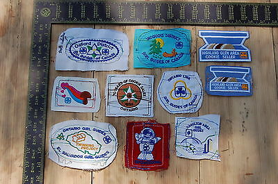Lot of 10 Girl Guides Canada RARE Vintage Sample Patches/Badges #22