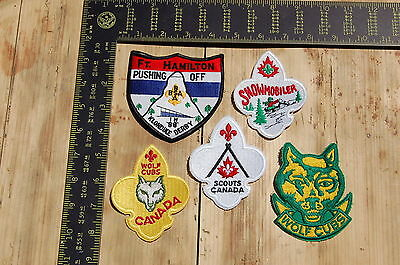 Lot of 5 Boy Scouts/Scouting Vintage BSA Patches/Badges #12