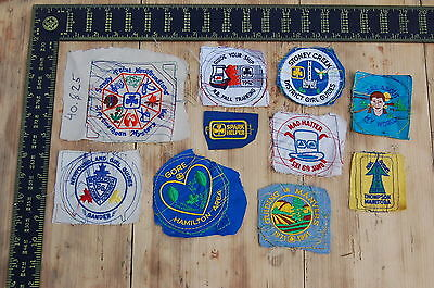 Lot of 10 Girl Guides Canada RARE Vintage Sample Patches/Badges #21
