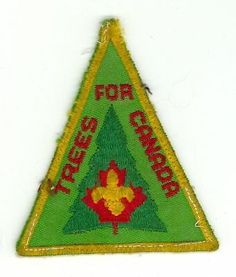 1970's Boy Scouts Trees For Canada HTF Vintage Patch/Badge - Green