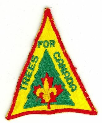 1970's Boy Scouts Trees For Canada HTF Vintage Patch/Badge - Yellow