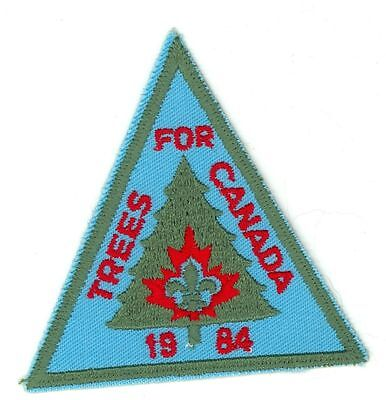 1984 Boy Scouts Trees For Canada HTF Vintage Patch/Badge - Blue