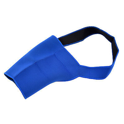 B3 Men Sports Protect Blue Elastic Neoprene Single Shoulder Brace Support