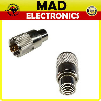 2 x PL259 Male SOLDER PLUG Connector UHF suits RG8 / RG213 cable