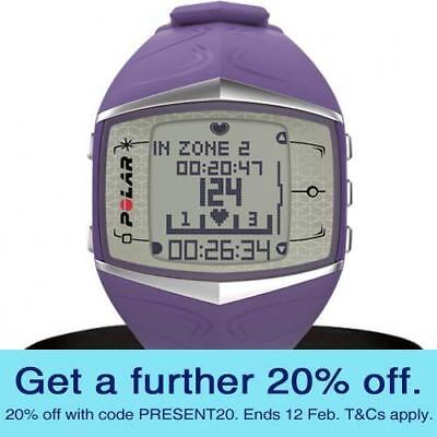 Polar FT60 Heart Rate Monitor Watch (Lilac) with GEN POLAR WARR