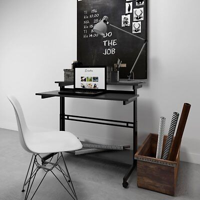 Devaise Adjustable Height Sit Stand Laptop Notebook Table Desk