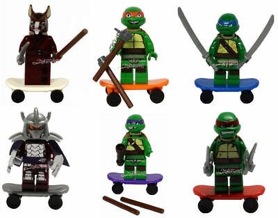 TMNT Teenage Mutant Ninja Turtles Splinter Shredder 6 Mini Figure Fits with Lego