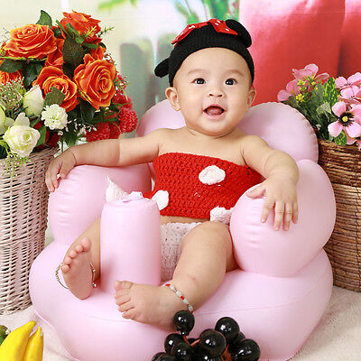 Cute  Baby Sofa Inflatable Learn stool Training seat Bath Dining Chair PVC Seat