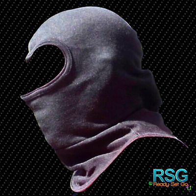 NOMEX BALACLAVA  with Bib Over the Head Black Heavyweight Flame resistant