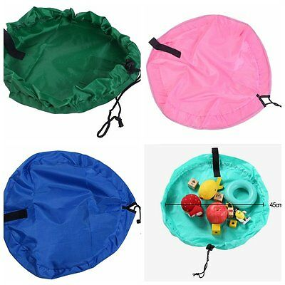 Baby Toy Storage Bag Organizer Toy Play Mat and Quick Holder Pouch(Random Color)