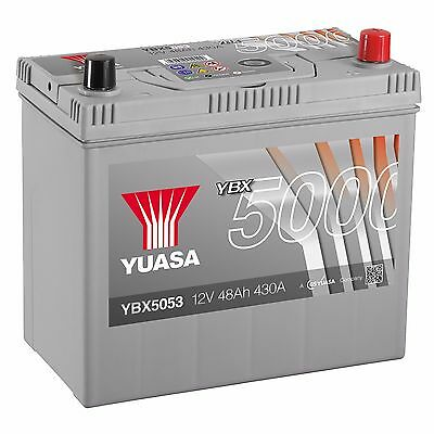 Yuasa YBX5053 12V Silver 053 Series Car Battery 48Ah 430A