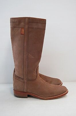 Size 39 Vintage Ladies Brown Riding Western Cowgirl Leather high boots