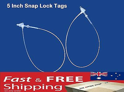 Snap Lock Pin Security Loop Plastic Tag lines Fastener Tagging Ties 5 ""