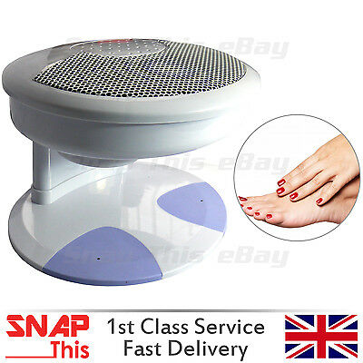 Nail Art Finger Toe Polish Varnish Dryer Hot & Cold Blower Breeze Fan W/ Sensor