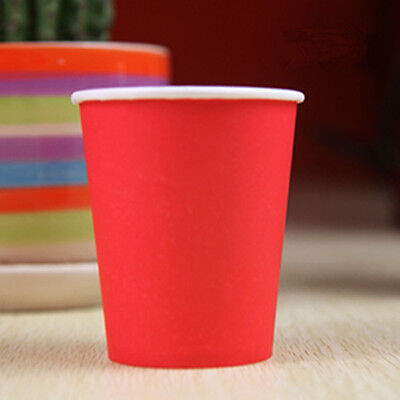 50pcs Disposable Red Paper Cups For Wedding Birthday Party Decoration