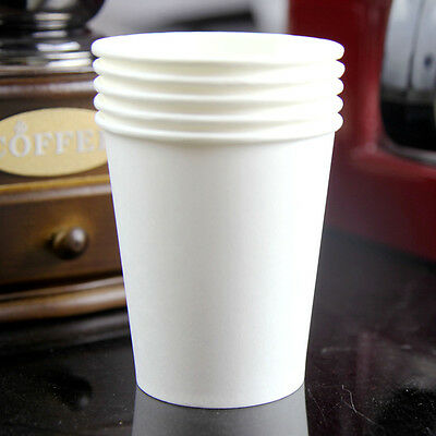 50pcs Disposable White Paper Cups For Wedding Birthday Party Decoration