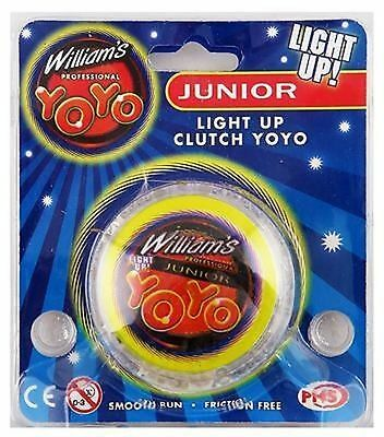 "William's YOYO KIDS TOY LIGHT UP CLUTCH TRICK 2"" Kids/Children Party Bag Fillers"