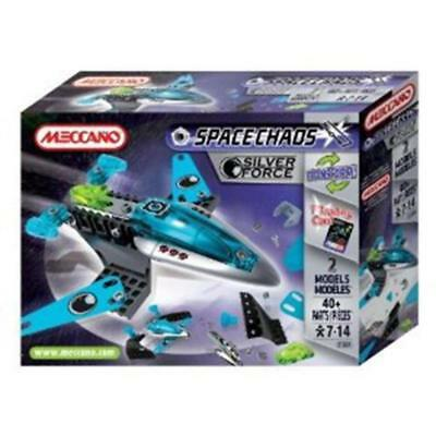 Meccano Space Chaos Patrol Ships Silver Force 803100a