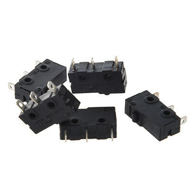 New 5 x 3-Terminal SPDT 1NO 1NC Momentary Micro Switch 3A/250VAC 5A/125AC N3