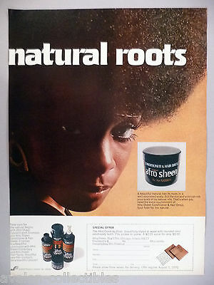 Afro Sheen Conditioner & Hair Dress PRINT AD - 1970