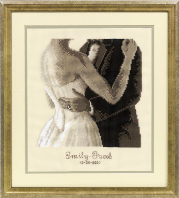 Vervaco Wedding Record To Have and To Hold Cross Stitch Kit