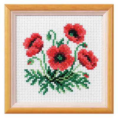 Orchidea Poppy Cross Stitch Kit