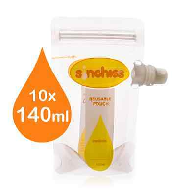 NEW Sinchies Baby Food Reusable Squeeze Pouches Refillable 140ml 1 Litre 12 Pack