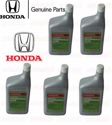 5 Quarts Genuine Manual Trans Transmission Fluid for Acura Honda MTF 087989031