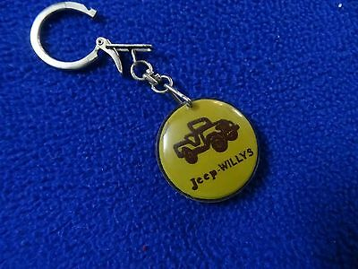 Hebrew  Israel  Old Plastic  Keychain Jeep Willys