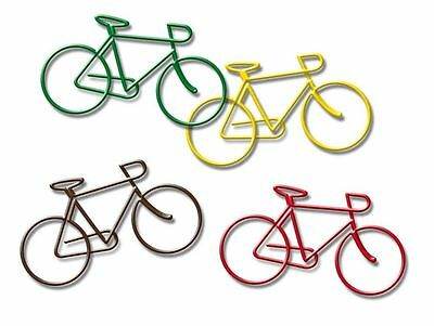 NPW Bicycle Bike Paper Clips Page Book Markers 4 Pk Novelty