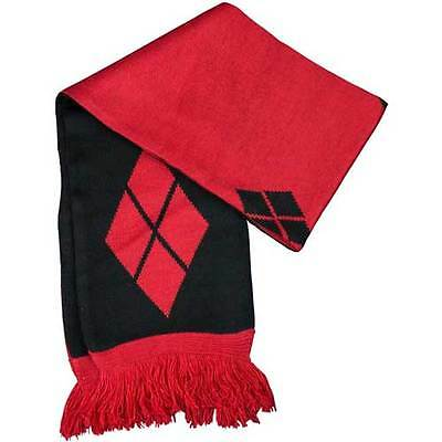 Batman - Harley Quinn Diamond Pattern Scarf NEW