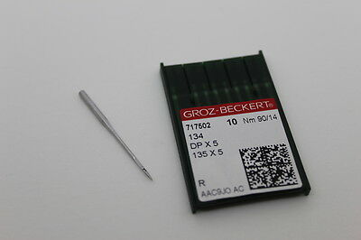 Groz-Beckert Industrial Sewing Machine Needles DPX5 134R Nm 90/14 X 10