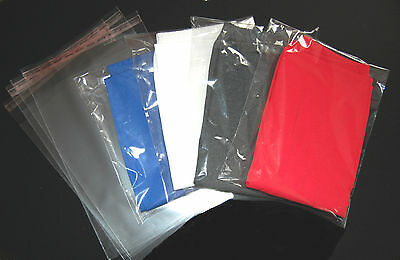 "10""x14"" 25x35cm T-shirt Clear Cello Garment Bags With Self Seal Adhesive Tape"
