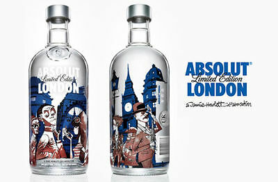 ABSOLUT VODKA Limited Edition 2012 London (full and sealed)