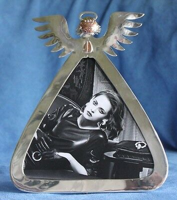 LG Vintage EMILIA CASTILLO Taxco Mexico Angel Mixed Metals Silver Picture Frame