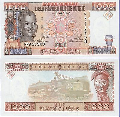 Guinea 1000 Francs Banknote (1998) Uncirculated Condition Cat#37-5968