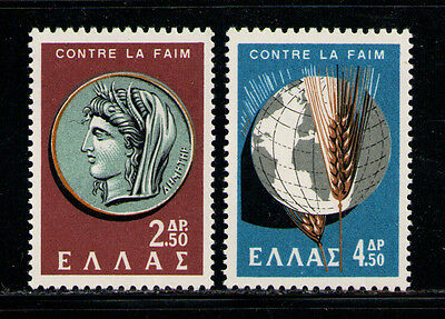 Grecia/greece 1963 Mnh Sc.743/744 Fao