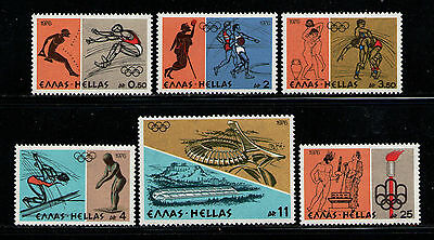 GRECIA/GREECE 1976 MNH SC.1181/1186 Olympic Games Montreal