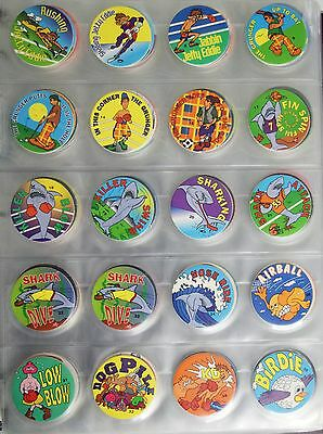 Huge Collection Of Collectible Pogs In Pages Lot 300 Coca Cola Etc