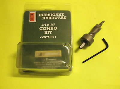 HURRICANE SHUTTER HARDWARE 1/4 X 1/2 Drill Bit (Sidewalk Bolt Anchor  Install)