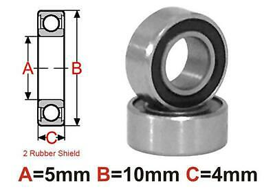 AT Bearing 5x10x4mm RS Ceramic Hybrid rubber sealed silicon nitr