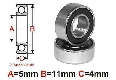 AT Bearing 5x11x4mm RS Ceramic Hybrid rubber sealed silicon nitr