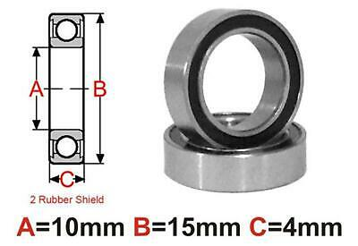 AT Bearing 10x15x4mm RS Ceramic Hybrid rubber sealed silicon nit