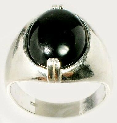 19thC Antique 6½ct Black Onyx Ancient Rome General Scipio (beat Hannibal) Amulet