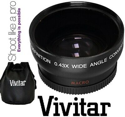 HD Wide Angle with Macro Lens for Canon 18-55mm Lens