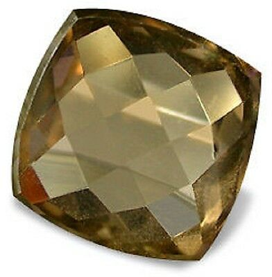 Best SMOKY QUARTZ Antique Cushion Checker Board 16 mm