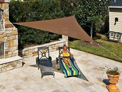 @@ Sun Shade Sail 12 X 12 X 12 Mocha Lightweight Coolaroo New