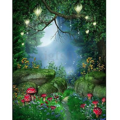 5x7ft Fairy Tale World Green Forest Photography Background Backdrop Photo Prop