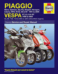 Piaggio Hexagon X8 X9 Haynes Manual Repair Manual Workshop Manual  1994-2008